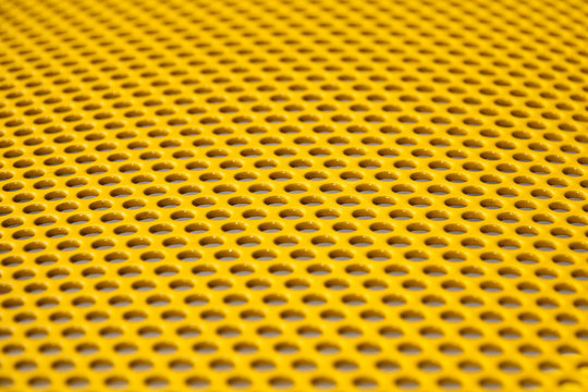 Yellow metal grille