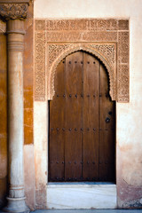 Ancient door of  Alhambra Palace