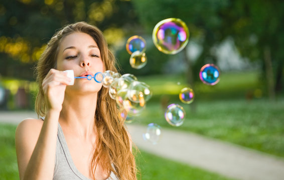 As easy as blowing bubbles.