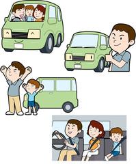 ドライブ家族