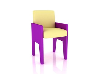 chair on a white background 3d