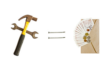 Hammer  and banknotes