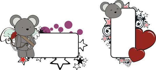 mouse  cupid cartoon copyspace