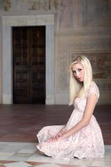 beautifull girl posing in the castle