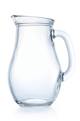 Empty jug on a white background