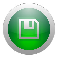 SAVE Web Button (download internet floppy disk click here green)