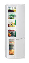 Two door white refrigerator isolated on white