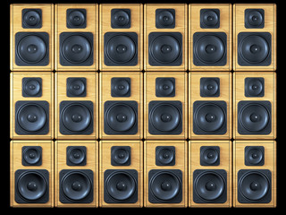 audio speakers background