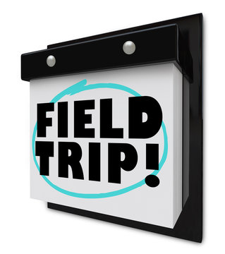 Field Trip Words Circled - School Outing