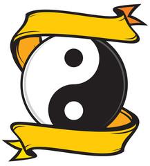 jing jang (ying yang) tattoo symbol