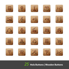 Holz Buttons 2