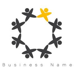 vecteur, logo travail en équipe