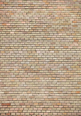 Old red brick wall texture front face