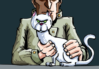Mr Blofeld and his cat