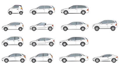 diverse Autotypen, neutrale