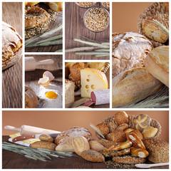 Brot Mahlzeit in Collage