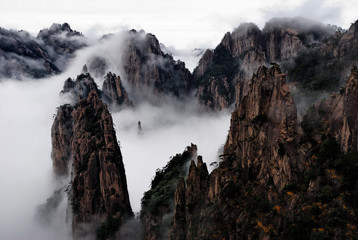 Printed kitchen splashbacks China Huangshan Cloud Sea