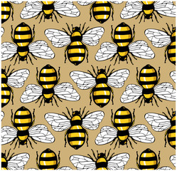 bee honey pattern
