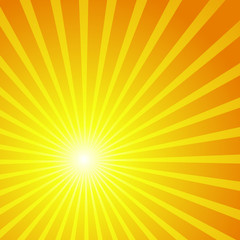beautiful vector background in the form of the sun