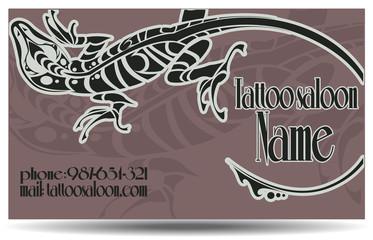 Tattoo saloon card