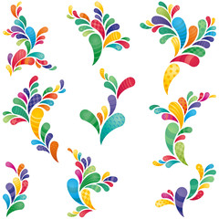 Colourful swirls, design elements