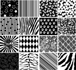 vector different black and white patterns