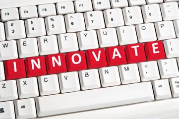 Innovate word on keyboard