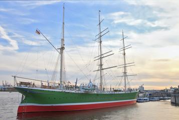 """Rickmer Rickmers"" historic ship in Hamburg"