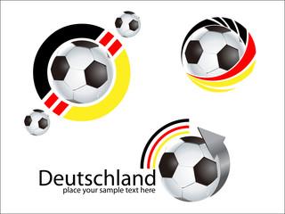 Vector Logo Temlate - Soccer - Fussball