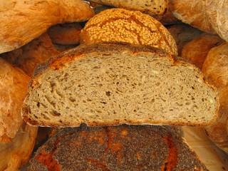 Rye bread, pan de centeno artesanal.