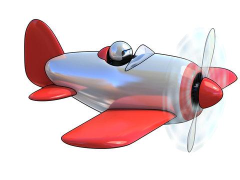 cartoon like airplane 3d illustration