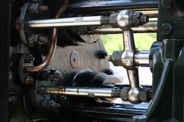 Pleuelstangen einer historischen Dampfmaschine