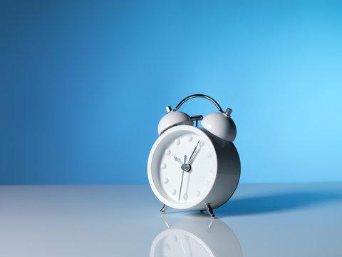 White alrm clock