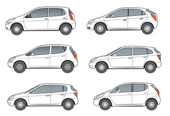 Kompaktwagen, weiß,neutral