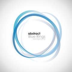 Blue Rings Background # Vector