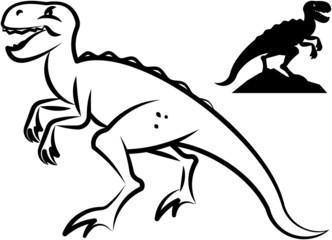 Dinosaurs.  Vector illustration