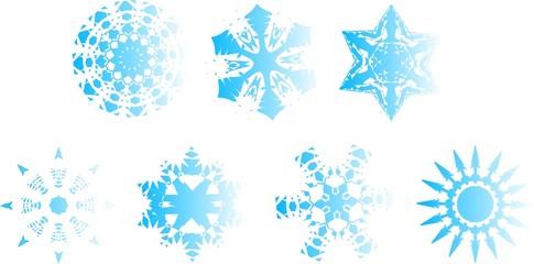 helle Schneeflocken