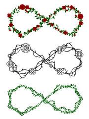 Vine infinity symbols