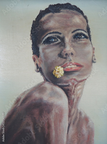 tableau peinture portrait de belle femme africaine photo libre de droits sur la banque d. Black Bedroom Furniture Sets. Home Design Ideas
