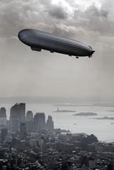 Zeppelin above New York