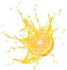 Wall Mural - splashing orange
