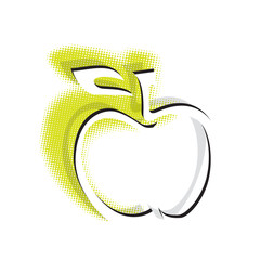 apple icon, simple clean symbol (vector)