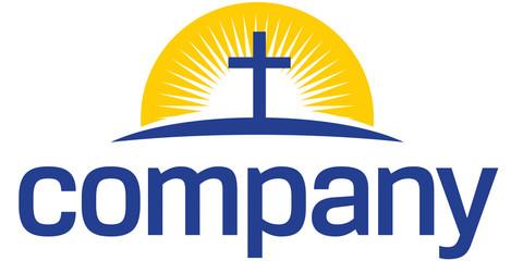 Cross with sun logo