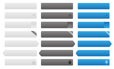 Button Set grau schwarz blau