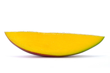 slice of mango with clipping path