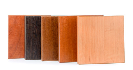Samples of  stained wood