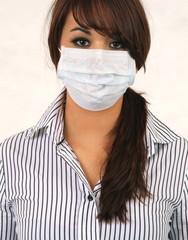 Patientin mit Hygienemaske