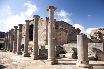Roman forum in Bosra. Syria.