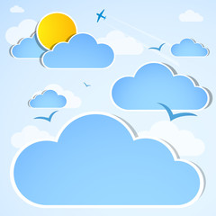 Printed roller blinds Heaven Sky. Good weather
