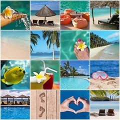Montage paradis tropical